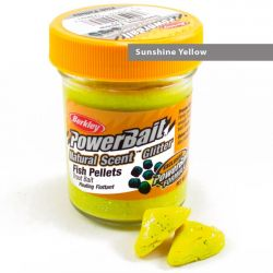 Паста форелевая Berkley Powerbait Natural Scent Glitter Trout Bait (50 г) Fish Pellet Sunshine Yellow