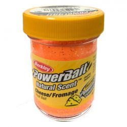 Паста форелевая Berkley Powerbait Natural Scent Glitter Trout Bait (50 г) Cheese Fluo Orange