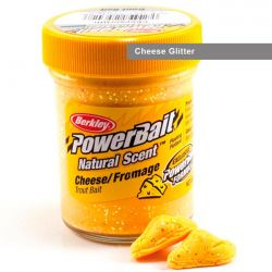 Паста форелевая Berkley Powerbait Natural Scent Glitter Trout Bait (50 г) Cheese Glitter