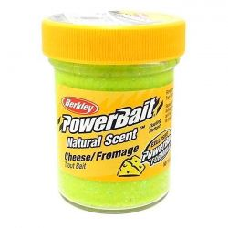 Паста форелевая Berkley Powerbait Natural Scent Glitter Trout Bait (50 г) Cheese Light Green