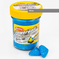 Паста форелевая Berkley Powerbait Natural Scent Glitter Trout Bait (50 г) Garlic Blue