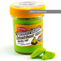 Паста форелевая Berkley Powerbait Natural Scent Glitter Trout Bait (50 г) Garlic Chartreuse
