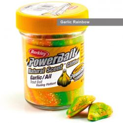 Паста форелевая Berkley Powerbait Natural Scent Glitter Trout Bait (50 г) Garlic Rainbow