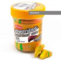 Паста форелевая Berkley Powerbait Natural Scent Glitter Trout Bait (50 г) Liver Rainbow