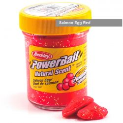 Паста форелевая Berkley Powerbait Natural Scent Glitter Trout Bait (50 г) Salmon Egg Red
