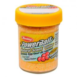 Паста форелевая Berkley Powerbait Natural Scent Glitter Trout Bait (50 г) Salmon Egg Peach