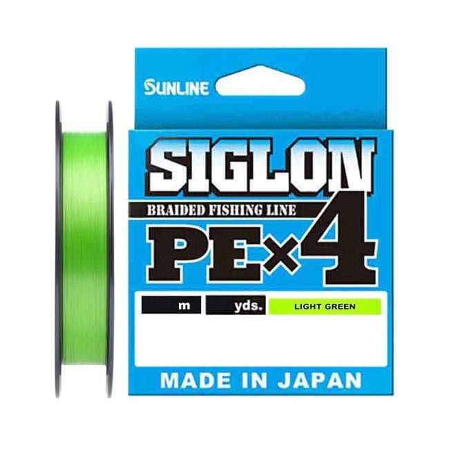 Шнур плетеный Sunline Siglon PE X4 150м 2.5 Light Green