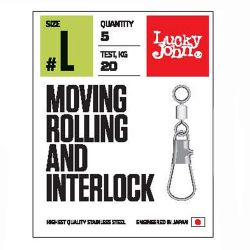 Вертлюги с застежкой Lucky John Pro Series Moving Rolling and Interlock