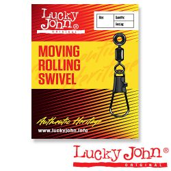 Вертлюги с застежкой Lucky John Moving Rolling and Interlock