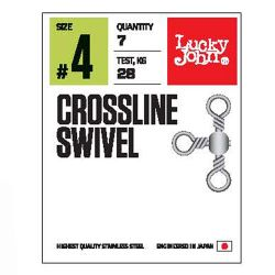 Вертлюги тройные Lucky John Pro Series Crossline Swivel
