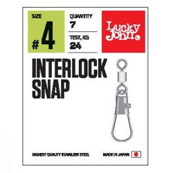 Застежки Lucky John Pro Series Interlock Snap