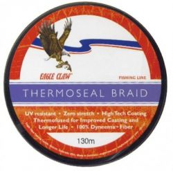 Леска плетёная Eagle Claw Thermoseal Fluo Yellow 130m
