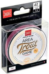 Плетеная леска Lucky John Area Trout Game Braid Pink 75m